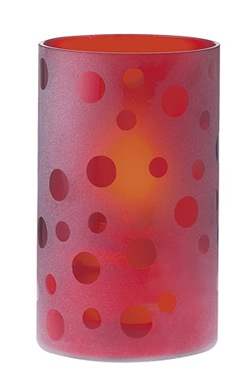 red frosted glass by candleland
