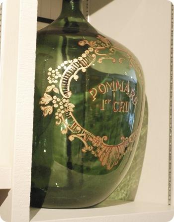 vintage home green wine jug