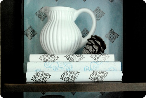 white pitcher shelf