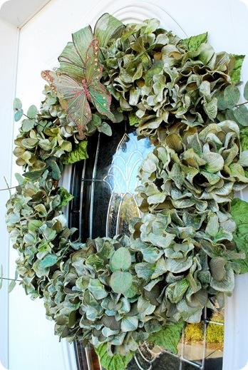 hydrangea wreath with bow