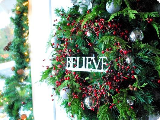 believe christmas wreath