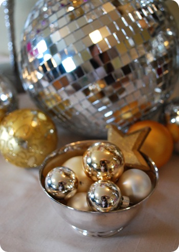 silver bowl with disco ball