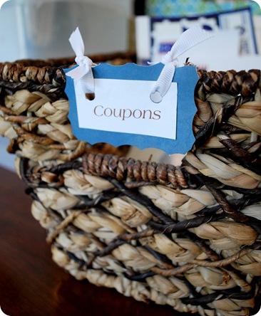 basket for coupons