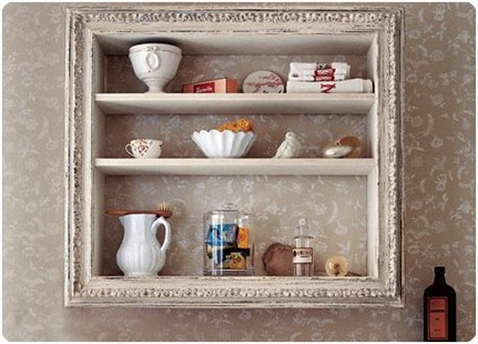 country living display shelves