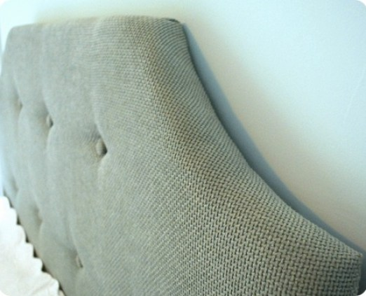two inch thickness tufted headboard