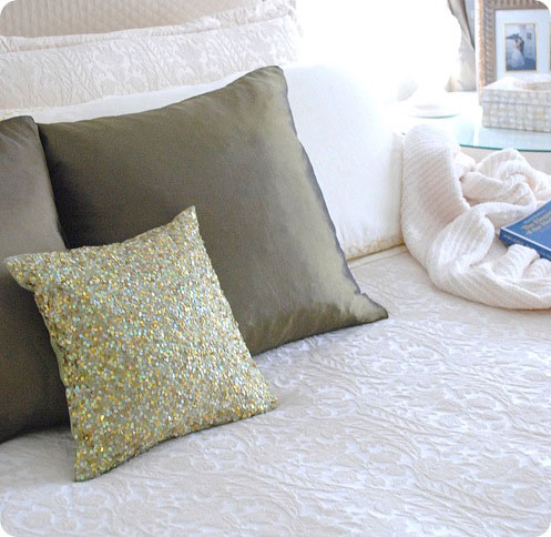 existing linens in room