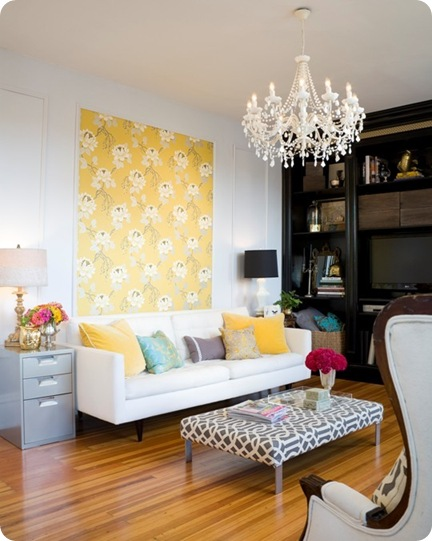 apartment therapy yellow wallpaper