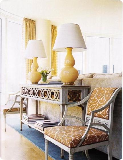 yellow lamps house beautiful