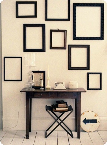 black frames via apartment therapy