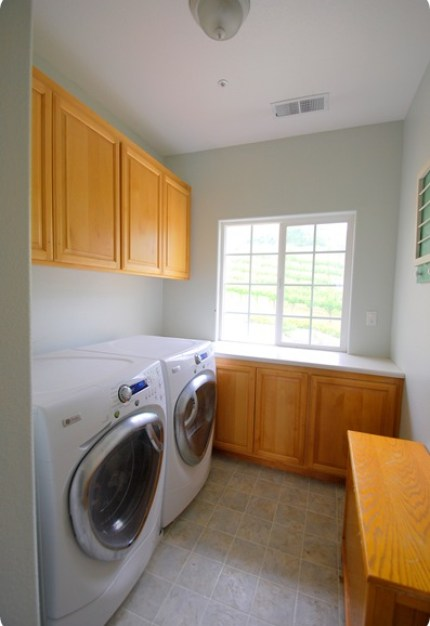 laundry room before left side