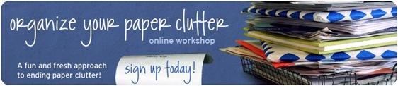 paper clutter workshop