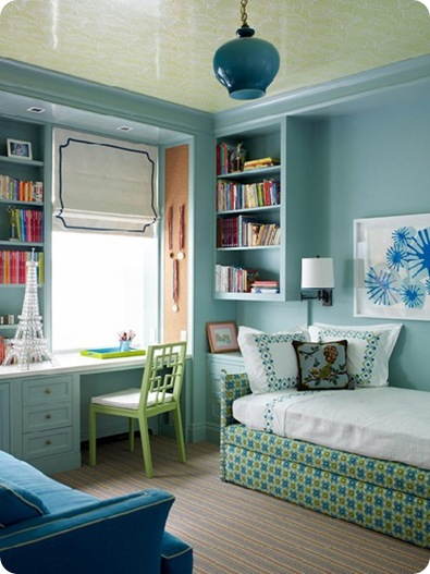traditional home bedroom office