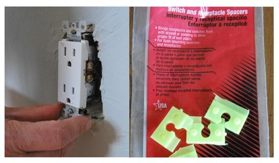 electrical outlets and spacers