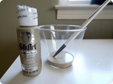 metallic taupe craft paint