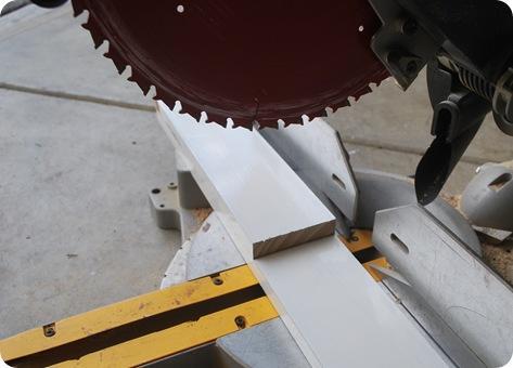 trim with saw
