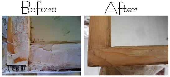 before and after stripping