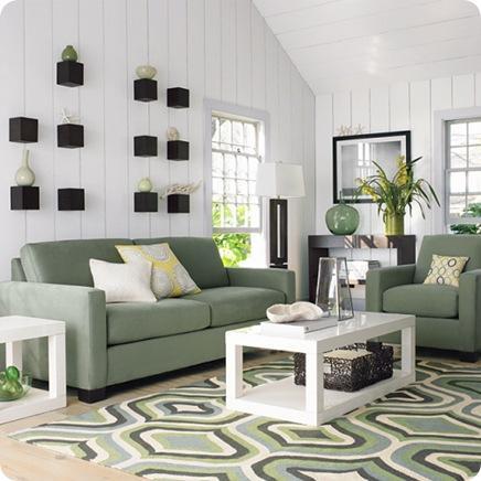 west elm rug and sofas