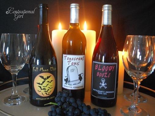 cg halloween wine labels