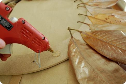 hot glue leaves