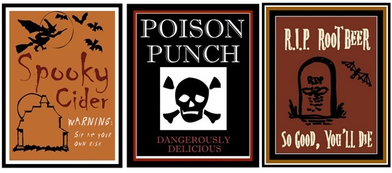juice soda labels