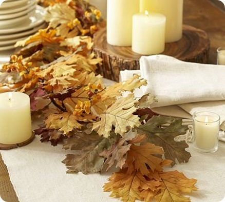 mixed leaf garland pb