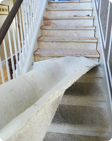 ripping out carpet