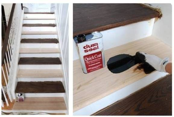 duraseal on steps one at a time