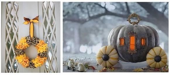 martha wreath cinderella pumpkin