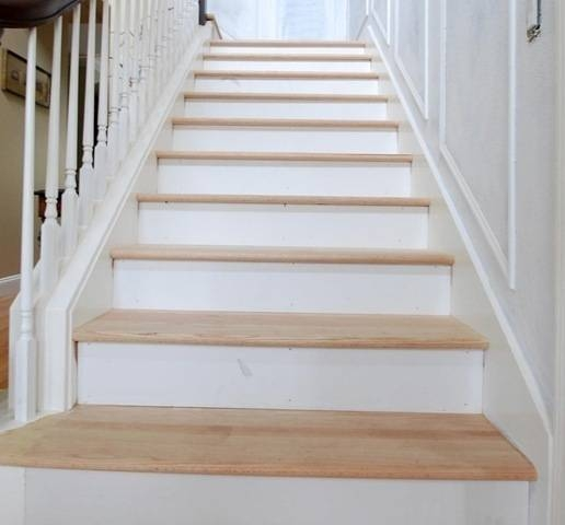 The Risers And The Treads Centsational Girl   Wood Stair Treads And Risers