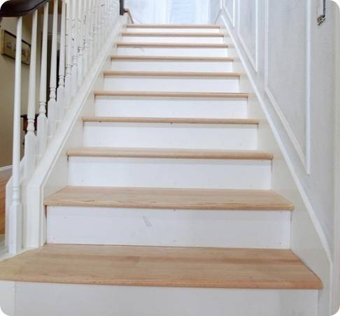 The risers and the treads centsational style - Interior stair treads and risers ...