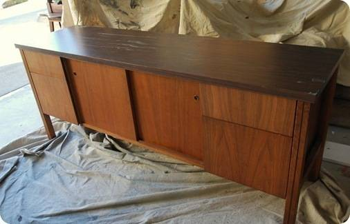 credenza before paint