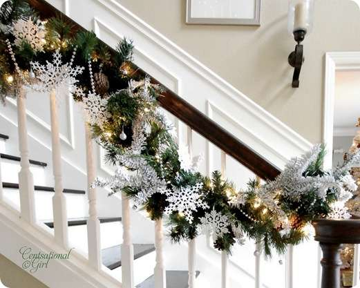 cg snowflakes stairs