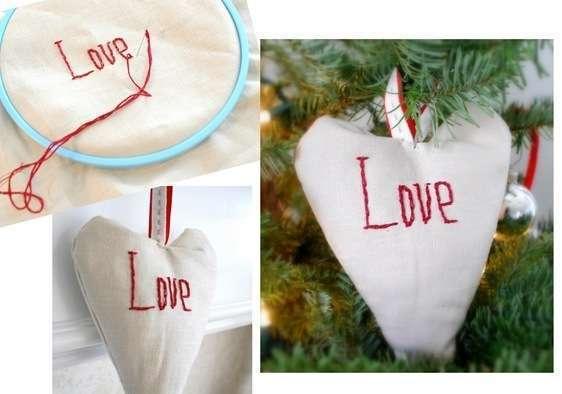 love stitched ornament