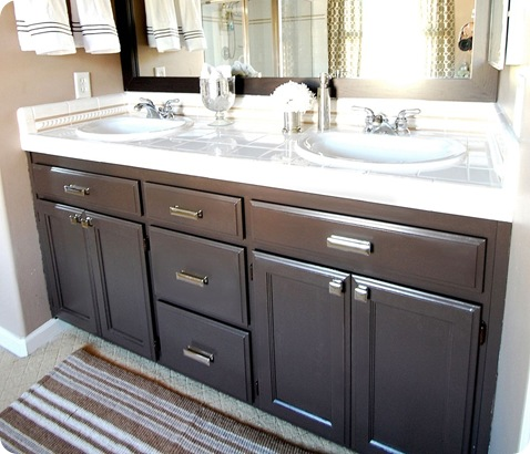 bathroom cabinets after paint