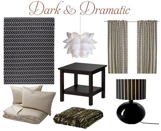 dark and dramatic room