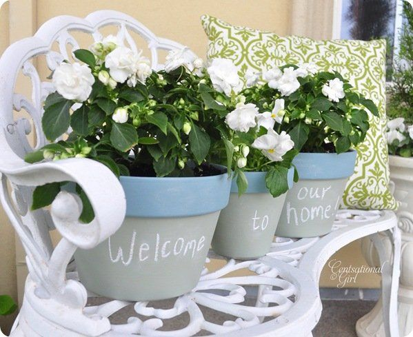 cg colored chalkboard planters