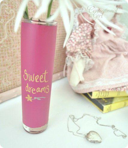 cg sweet dreams pink chalkboard vase