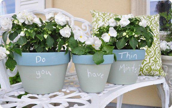 thin mints chalkboard message