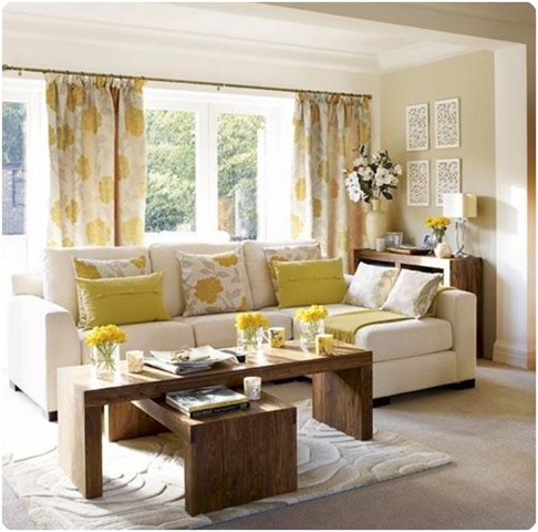 yellow floral drapes decorpad