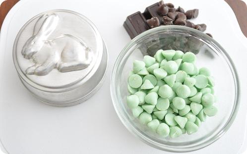 bunny tins and chocolates