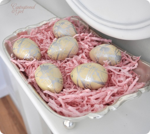 cg paint splattered easter eggs