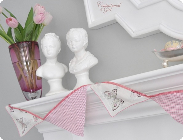cg tulips butterfly bunting