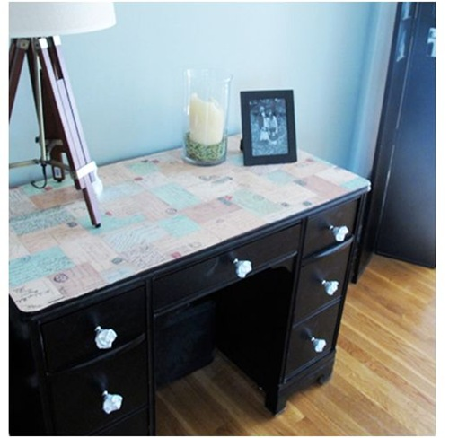 decoupage desk