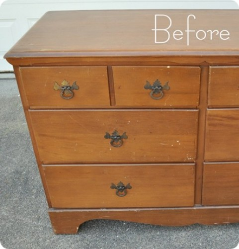 dresser before left