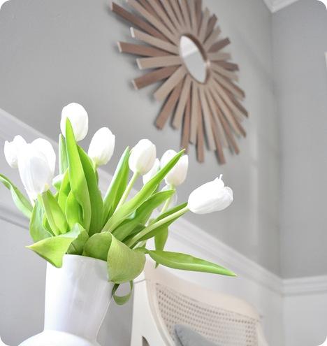 tulips and sunburst