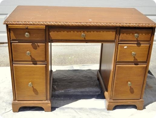 honey desk before paint