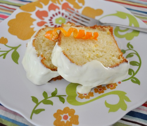orange cake slices