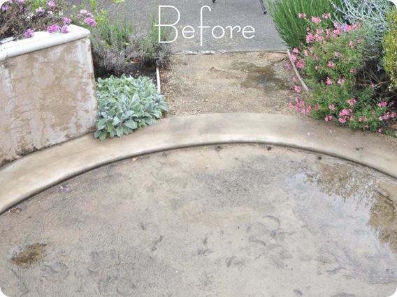 stone patio before