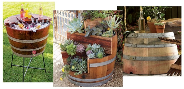 creative uses for wine barrels