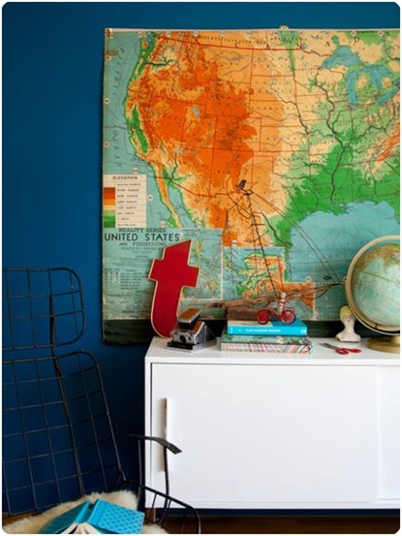 emily henderson blue walls map